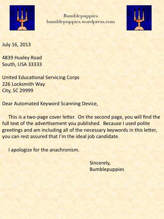Job Application Letter Greetings - How to Address a Cover ...