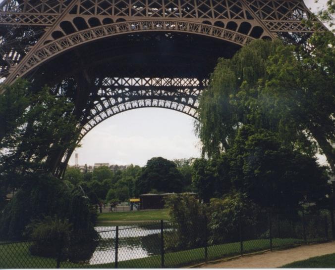 Near the Eiffel Tower's base